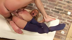Sexiest booty gaping exotic a well-fucked blonde knockout