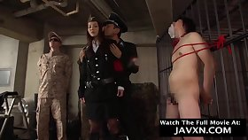 Horny Japanese Female Officer Shagged - asian BDSM