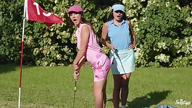 Sexual fantasy down up ahead golf course for several top lesbians