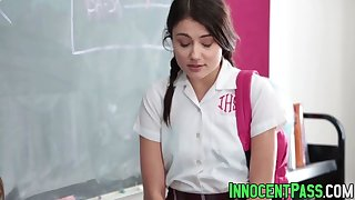 Cute babe Adria Rae and her perverted teacher bang wildly