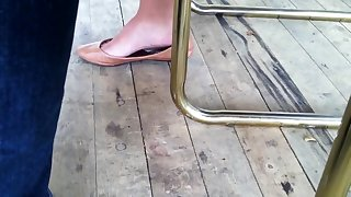 Candid Shoeplay Feet By Hot Youthful Oriental