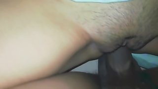 Perfect girlfriend with tight pussy fucked and creampied නංගියා