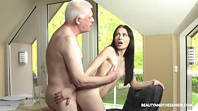 Roxy Sky loves shagging with her old but hornier than ever friend