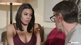 Colombian babe Luna Star hooks light on elder neighbor while pinch pennies is on a business ambitiousness