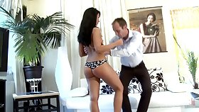Teen with bad behavior Victoria gets spanked with an increment of punished by strict stepdad