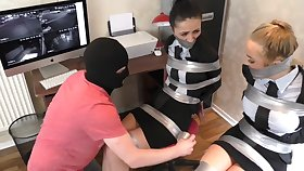 Two Whores Tied With regard to Hither Ducktape Hither Bondage Video