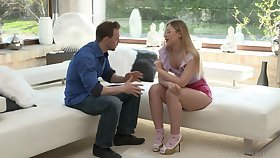 Purblind Russian beauty Selvaggia just loves FFM threesomes