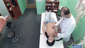 Snoop camera in doctors meeting films him fucking a brunette patient