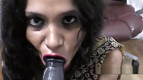 Hot Indian Aunty derogatory talking and blowjob