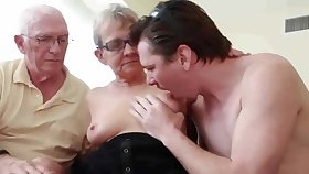 REAL Granny Fucks Young Babe in arms Dude with Tighten one's belt Watching - cuckold sophistry